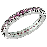 Lavender sapphire white gold eternity ring